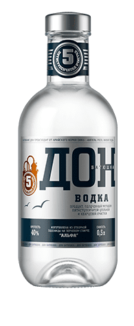 <b>Don-Batyushka</b><br>vodka<br>40%, 100/250/500/700/1000ml