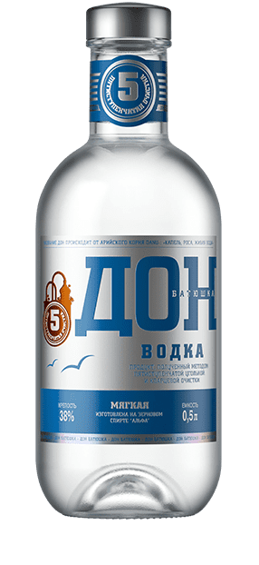 Don-Batyushka (Father Don) Classic Vodka and Infusions