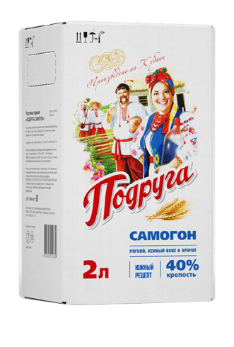 Podruga Samogon infusion <br>                  in a bag-in-box, 40%, 2 L
