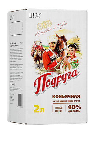Podruga Cognac infusion<br>                  in a bag-in-box , 40%, 2 L