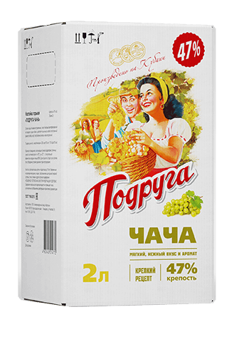 Podruga Chacha infusion<br>                 in a bag-in-box, 47%, 2 L