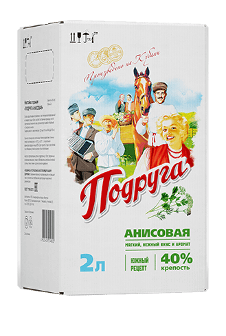Podruga Anise infusion<br>                   in a bag-in-box, 40%, 2 L
